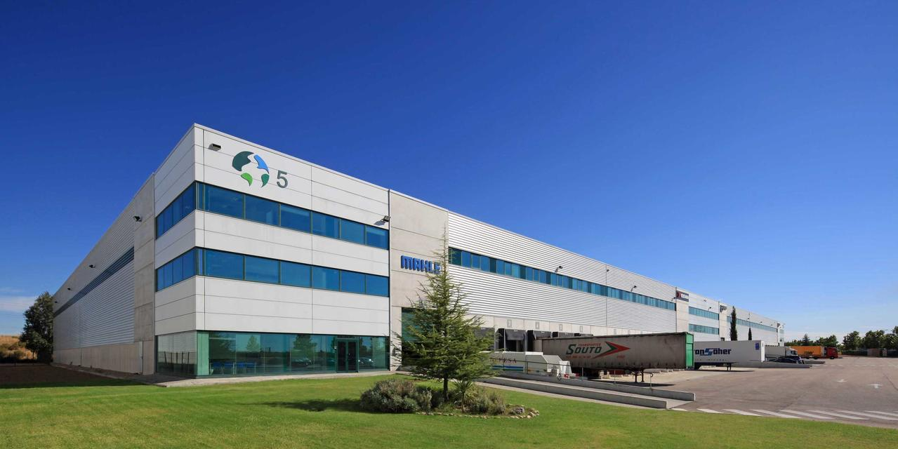 The image shown is logistics warehouse, Alcala DC5, located in Madrid, Spain.